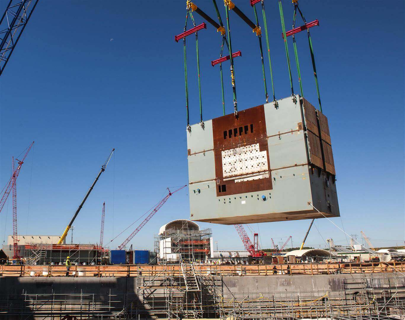 heavy lifting twin path slings nuclear plant construction